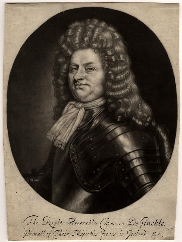 Godard van Reede-Ginckel, 1st Earl of Athlone, by Robert Williams, after  Thomas Hill, 1690-1691 - NPG D565 - © National Portrait Gallery, London