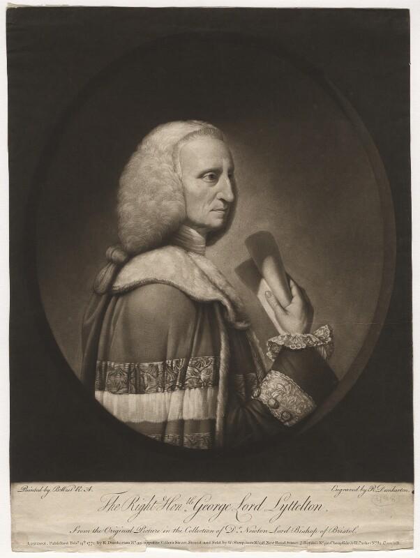 George Lyttelton, 1st Baron Lyttelton, by Robert Dunkarton, after  Benjamin West, published 1774 - NPG D5653 - © National Portrait Gallery, London