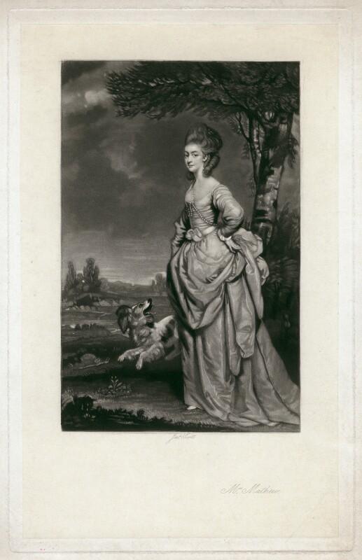 Elisha Mathew (née Smith), by James Scott, after  Sir Joshua Reynolds, 1850s-1880s (1777) - NPG D5669 - © National Portrait Gallery, London