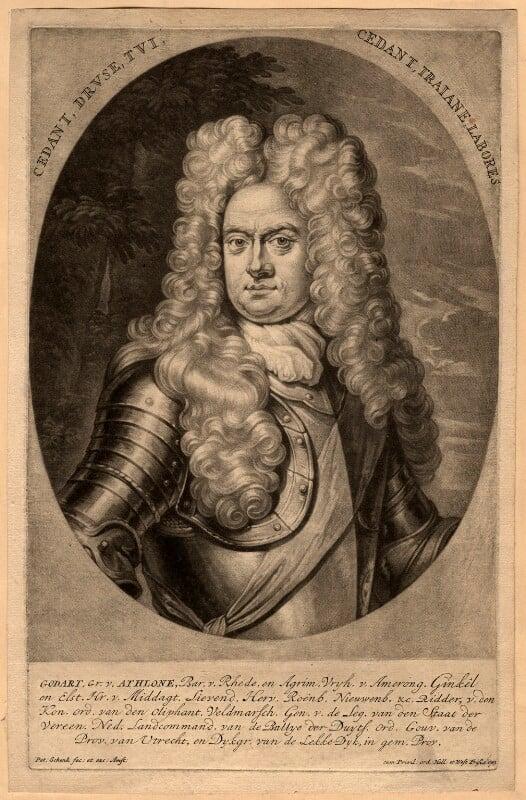 Godard van Reede-Ginckel, 1st Earl of Athlone, by Pieter Schenck, 1703 - NPG D570 - © National Portrait Gallery, London