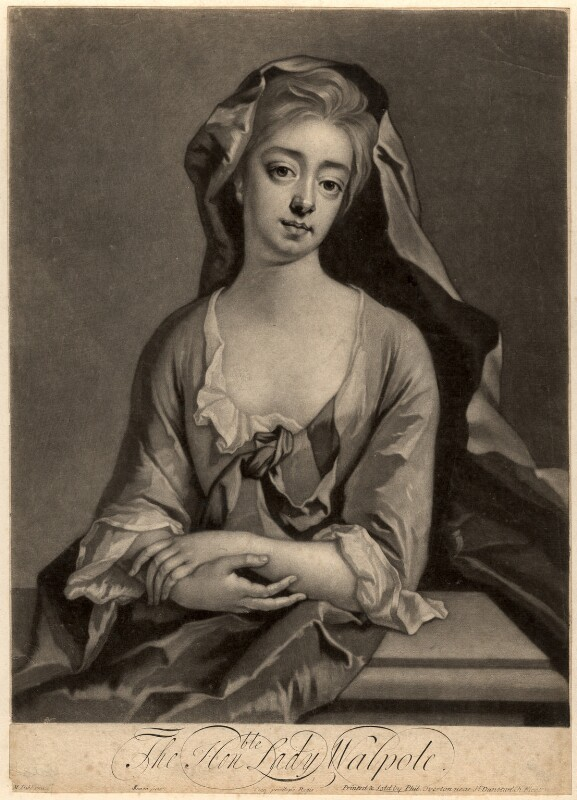 Catherine Walpole (née Shorter), Lady Walpole, by John Simon, published by  Philip Overton, after  Michael Dahl, circa 1700-1725 - NPG D5726 - © National Portrait Gallery, London