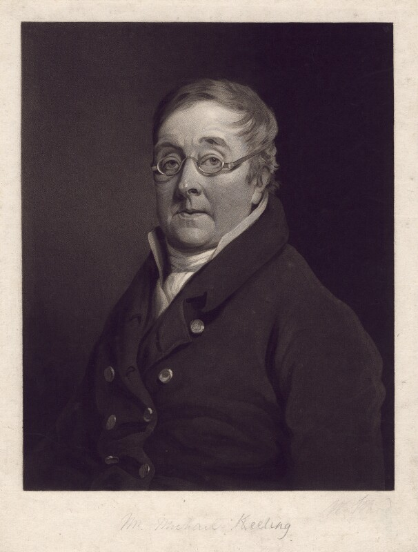 Michael Keeling, by William Ward, after  Unknown artist, early 19th century - NPG D5741 - © National Portrait Gallery, London