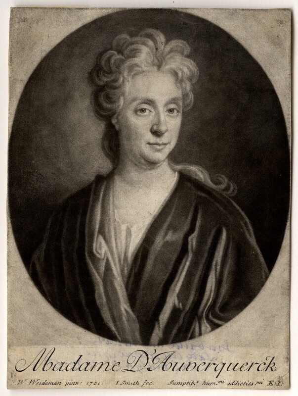 Isabella (née van Aerssen van Sommelsdijck), Countess of Auverquerque, by John Smith, after  Friedrich Wilhelm Weidemann, 1701 - NPG D575 - © National Portrait Gallery, London