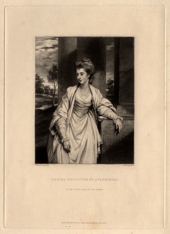 Louisa (née Thynne), Countess of Aylesford, by Samuel William Reynolds, after  Sir Joshua Reynolds, published 1836 - NPG D576 - © National Portrait Gallery, London