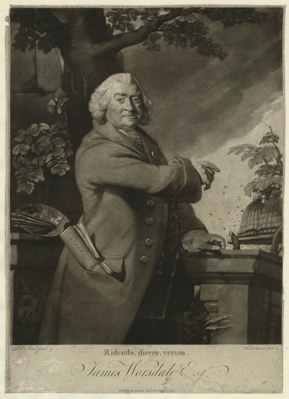 James Worsdale, by William Dickinson, after  Robert Edge Pine, published 1769 - NPG D5764 - © National Portrait Gallery, London