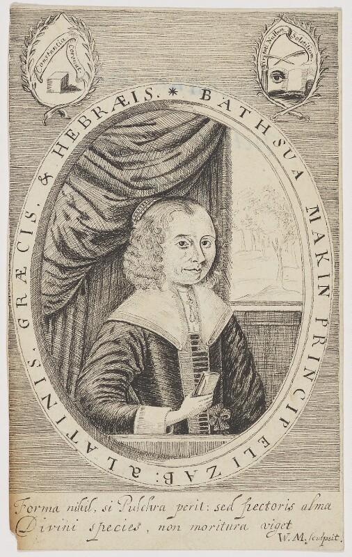 Bathsua Makin (née Reginald), by John Brand, 1791 - NPG D5786 - © National Portrait Gallery, London