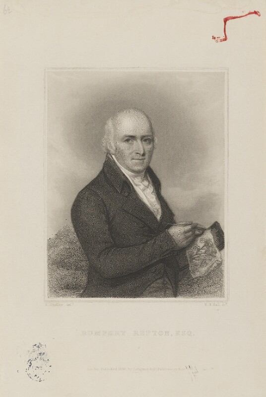 Humphry Repton, by Henry Bryan Hall, published by  Longman & Co, after  Samuel Shelley, published 1839 - NPG D5801 - © National Portrait Gallery, London