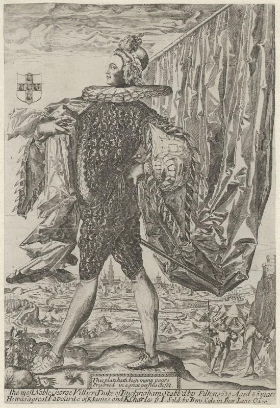George Villiers, 1st Duke of Buckingham, sold by Benjamin Cole, circa 1628 - NPG D5812 - © National Portrait Gallery, London
