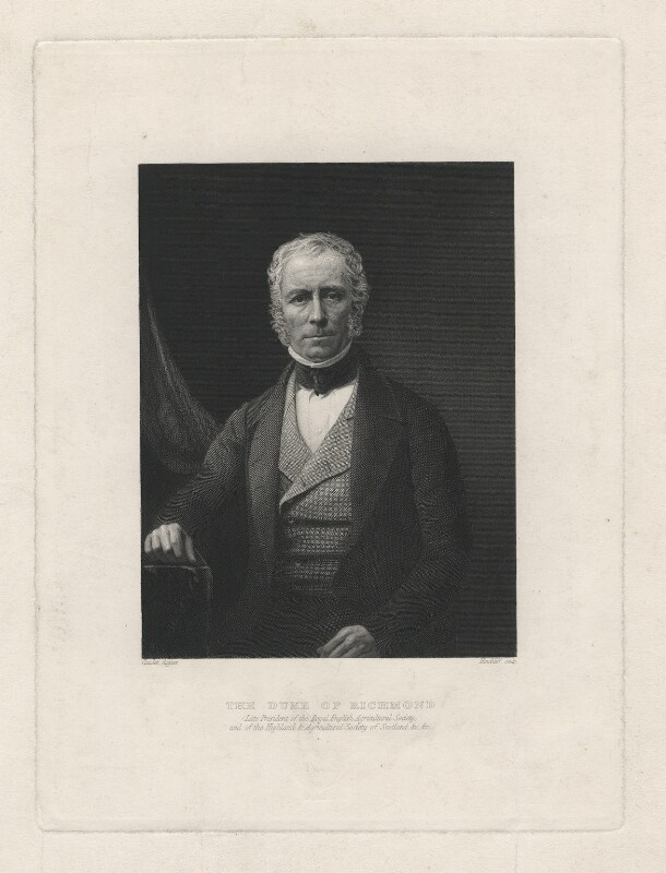 Charles Gordon-Lennox, 5th Duke of Richmond and Lennox, by Hinchliff, after a daguerreotype by  Antoine Claudet, 1860 or after - NPG D5816 - © National Portrait Gallery, London
