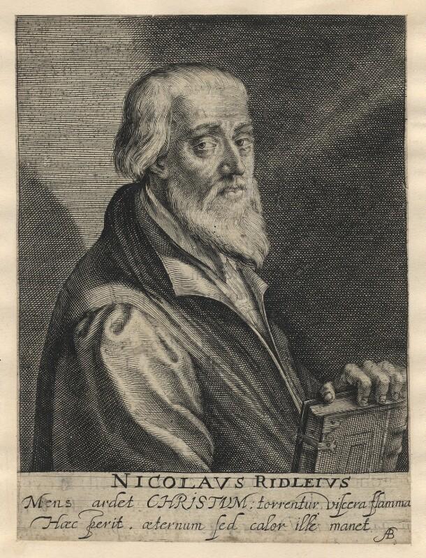 Nicholas Ridley, by Magdalena de Passe, by  Willem de Passe, published 1620 - NPG D5817 - © National Portrait Gallery, London