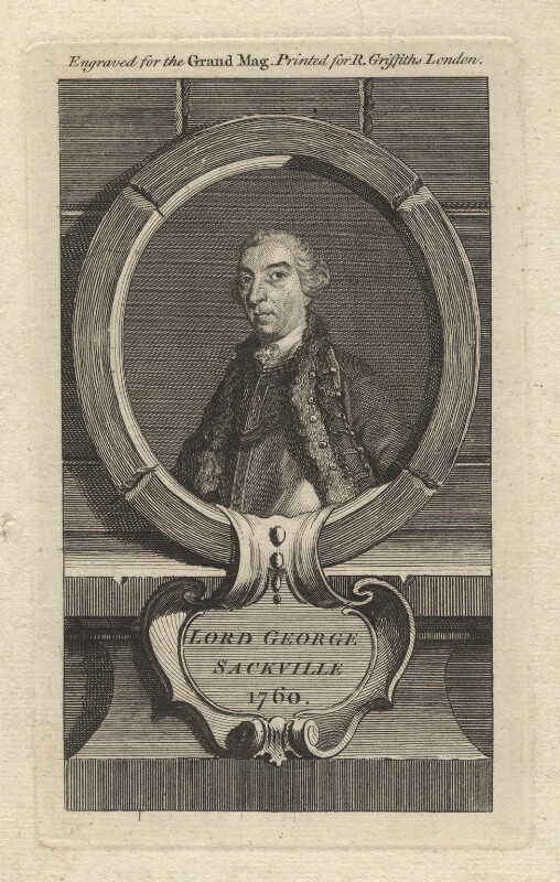 George Sackville Germain, 1st Viscount Sackville, printed for Ralph Griffiths, 1760 - NPG D5871 - © National Portrait Gallery, London