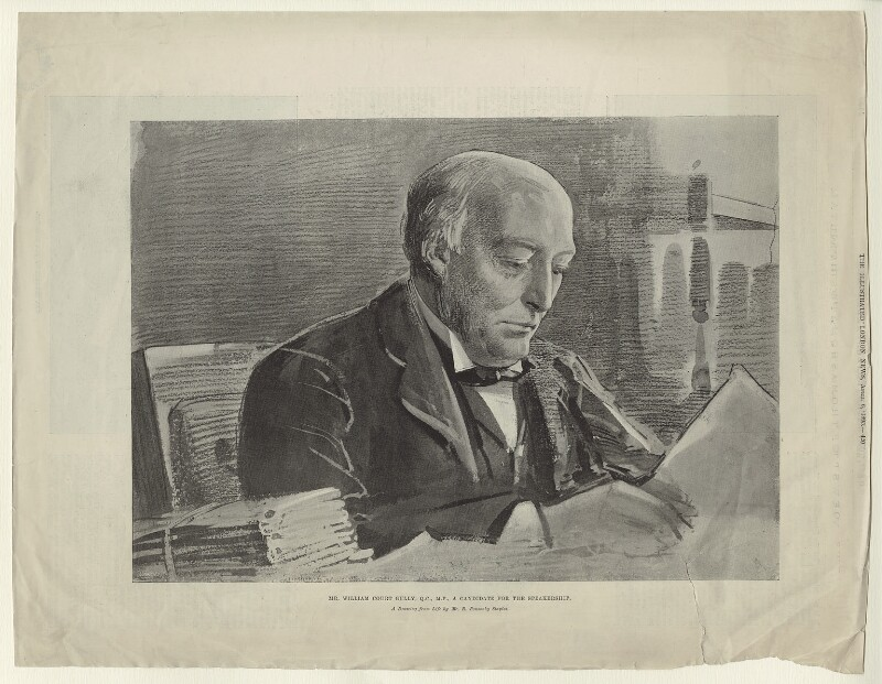 William Court Gully, 1st Viscount Selby, published by Illustrated London News, after  Sir Robert Ponsonby Staples, Bt, published 6 April 1895 - NPG D5930 - © National Portrait Gallery, London