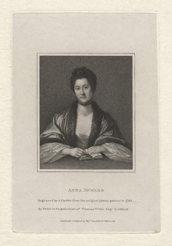 Anna Seward, by Anthony Cardon, after  Tilly Kettle, published 1811 (1762) - NPG D5941 - © National Portrait Gallery, London