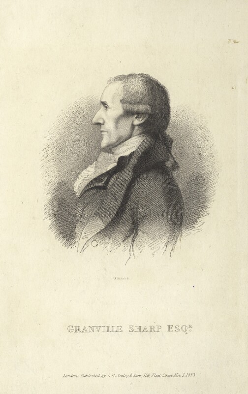 Granville Sharp, by G. Adcock, after  Unknown artist, published 1833 - NPG D5950 - © National Portrait Gallery, London