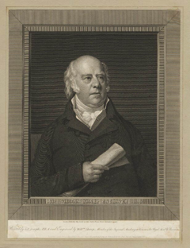 William Sharp, by William Sharp, after  George Francis Joseph, published 12 May 1817 - NPG D5951 - © National Portrait Gallery, London