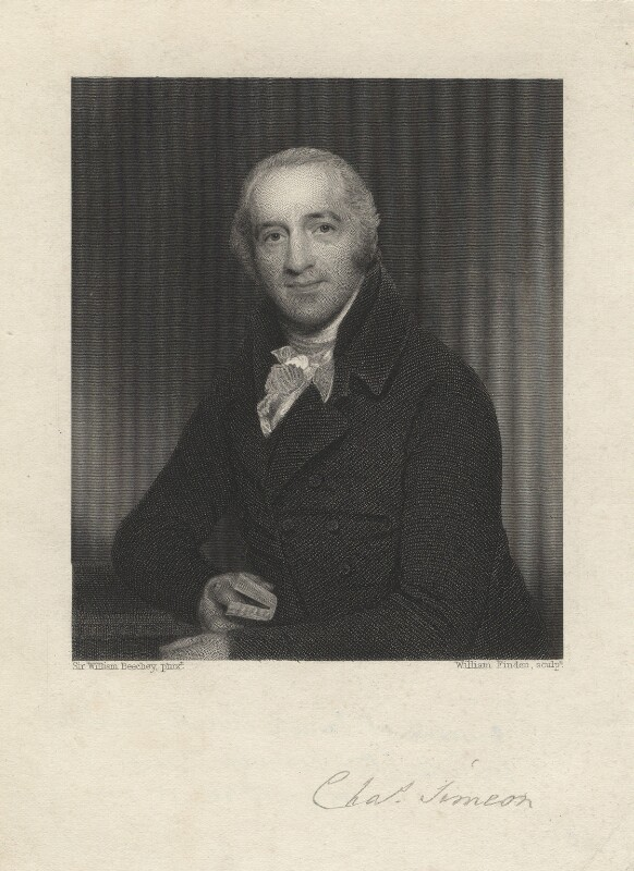 Charles Simeon, by William Finden, after  Sir William Beechey, published 1847 (1808) - NPG D5985 - © National Portrait Gallery, London