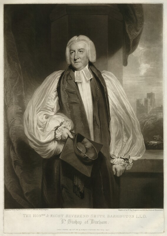 Shute Barrington, by and published by William Say, after  William Owen, published 20 July 1812 - NPG D644 - © National Portrait Gallery, London