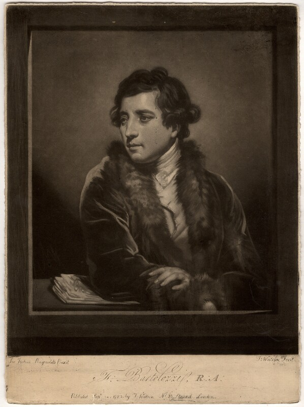 Francesco Bartolozzi, by Thomas Watson, after  Sir Joshua Reynolds, published 1785 - NPG D654 - © National Portrait Gallery, London