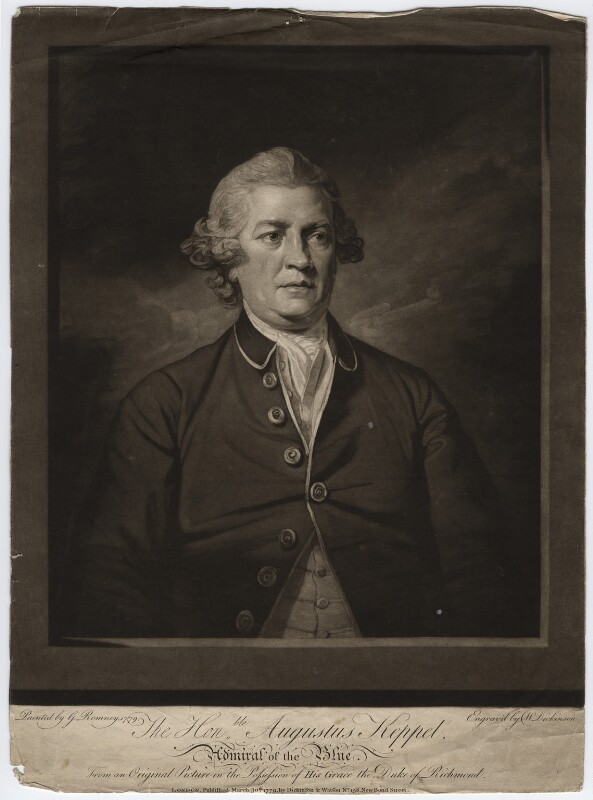 Augustus Keppel, Viscount Keppel, by William Dickinson, after  George Romney, published 1779 (1779) - NPG D6565 - © National Portrait Gallery, London