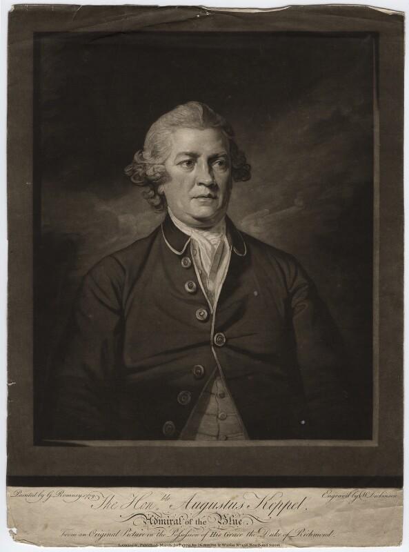 Augustus Keppel, Viscount Keppel, by William Dickinson, after  George Romney, published 1779 (1779) - NPG D6565 - © National Portrait Gallery, London