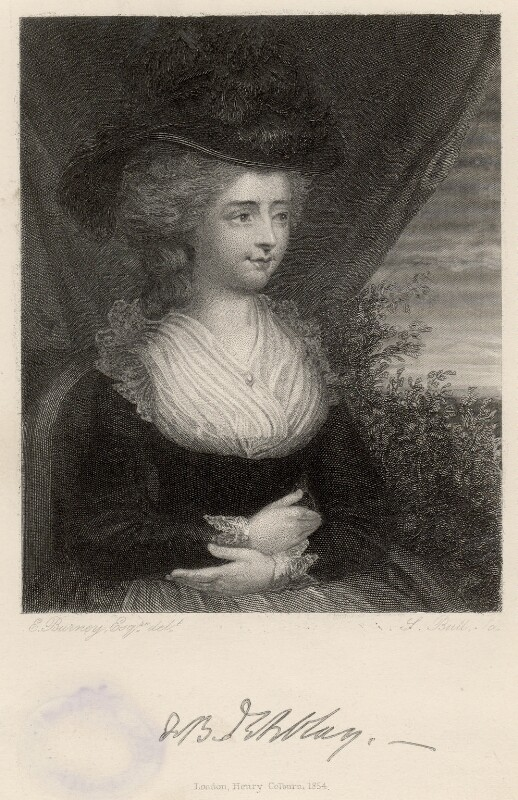 Fanny Burney, by S. Bull, after  Edward Francisco Burney, published 1854 - NPG D6604 - © National Portrait Gallery, London