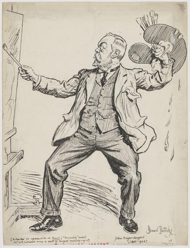 John Singer Sargent, by Sir (John) Bernard Partridge, circa 1925 - NPG D6612a - © National Portrait Gallery, London