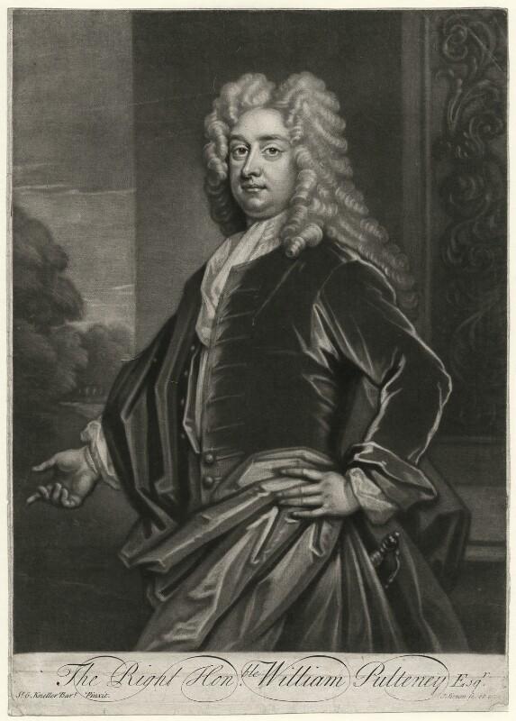 William Pulteney, 1st Earl of Bath, by John Simon, after  Sir Godfrey Kneller, Bt, (circa 1717) - NPG D663 - © National Portrait Gallery, London