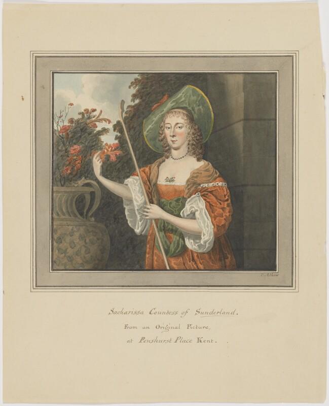Dorothy (Sydney), Countess of Sunderland as Sacharissa, by Thomas Athow,  - NPG D6643 - © National Portrait Gallery, London