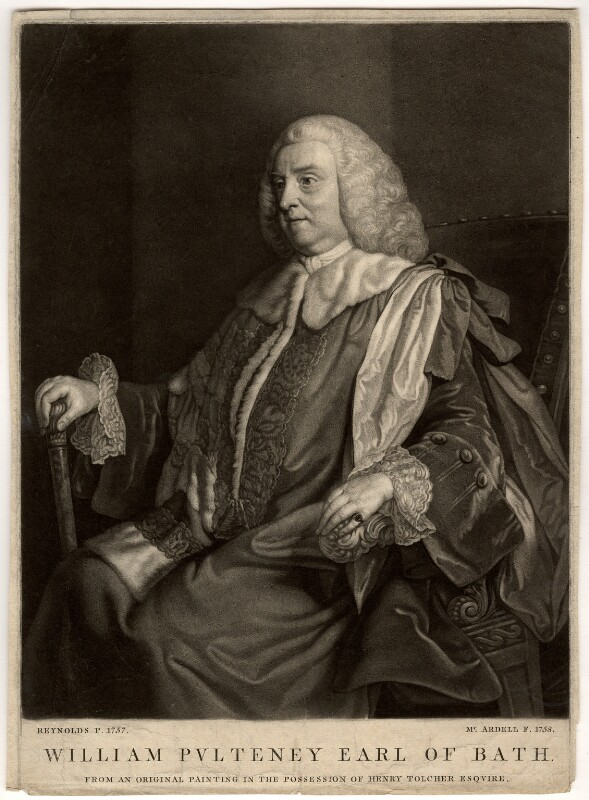 William Pulteney, 1st Earl of Bath, by James Macardell, after  Sir Joshua Reynolds, 1758 (1757) - NPG D665 - © National Portrait Gallery, London