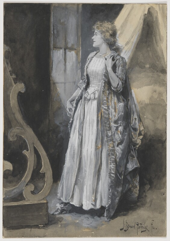 Ellen Terry as the Countess de St Valery in 'The Dead Heart', by Bernard Partridge, circa 1889 - NPG D6652 - © National Portrait Gallery, London