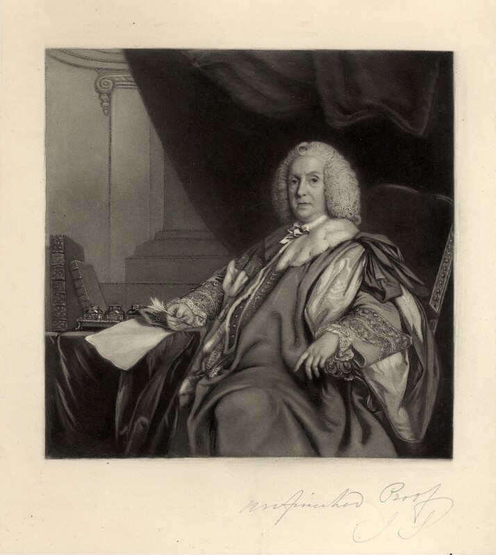 William Pulteney, 1st Earl of Bath, by James Scott, after  Sir Joshua Reynolds, (circa 1755-1757) - NPG D666 - © National Portrait Gallery, London