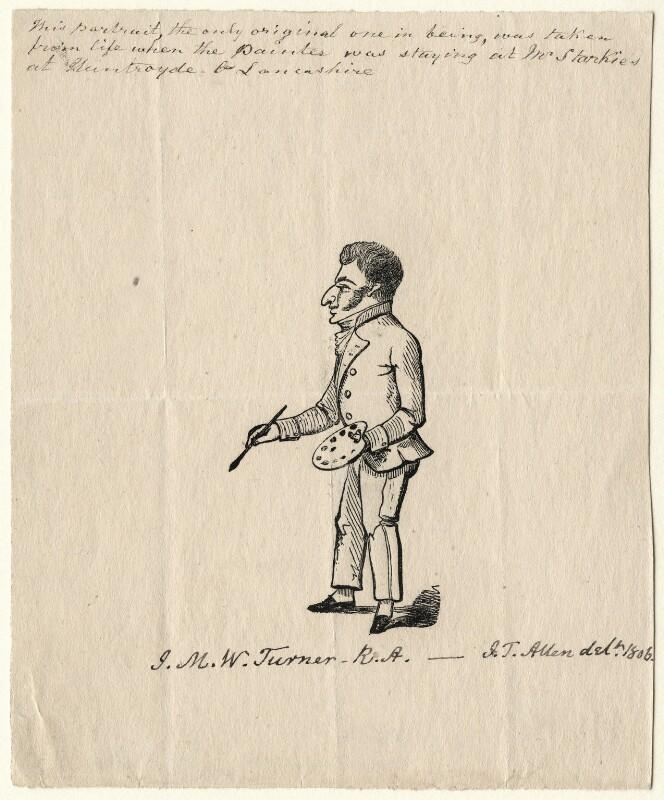 Joseph Mallord William Turner, after J.T. Allen, (1806) - NPG D6663 - © National Portrait Gallery, London