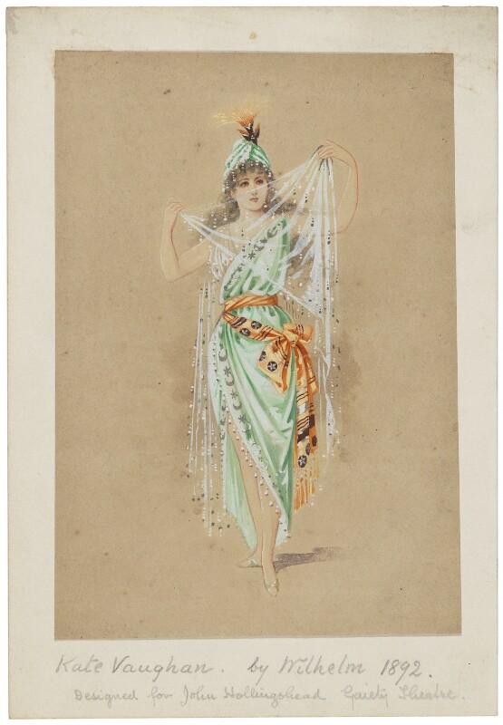 Kate Vaughan (Kate Alice Candelin), by Wilhelm, 1892 - NPG D6666 - © National Portrait Gallery, London
