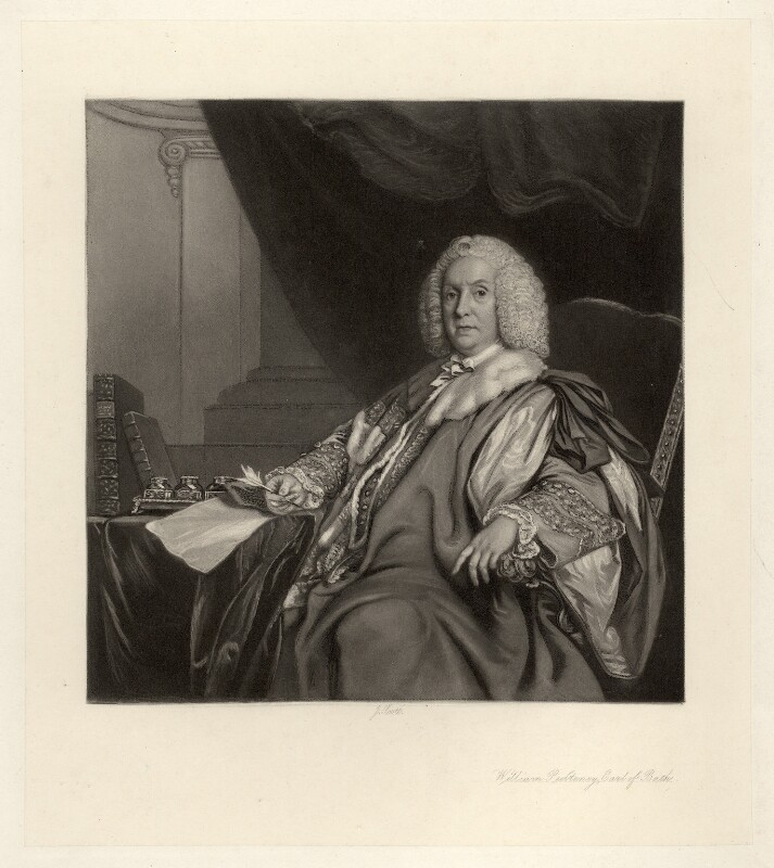William Pulteney, 1st Earl of Bath, by James Scott, after  Sir Joshua Reynolds, (circa 1755-1757) - NPG D667 - © National Portrait Gallery, London