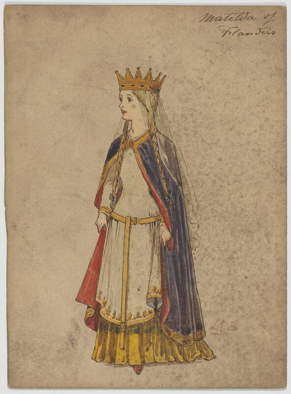 Matilda of Flanders, by H.B., 19th century - NPG D6692 - © National Portrait Gallery, London