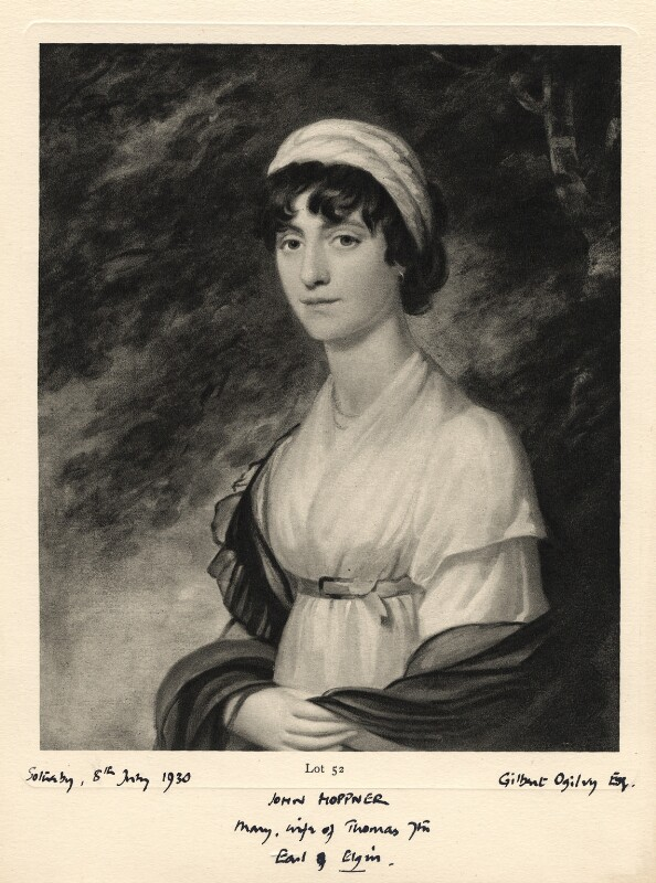 Mary (née Nisbet), Countess of Elgin, after John Hoppner, 1930 - NPG D671 - © National Portrait Gallery, London
