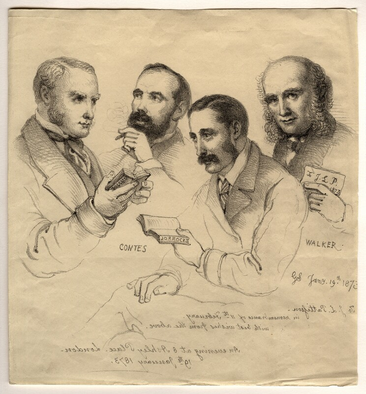 Sir George Scharf and friends, by Sir George Scharf, 1873 - NPG D6713 - © National Portrait Gallery, London