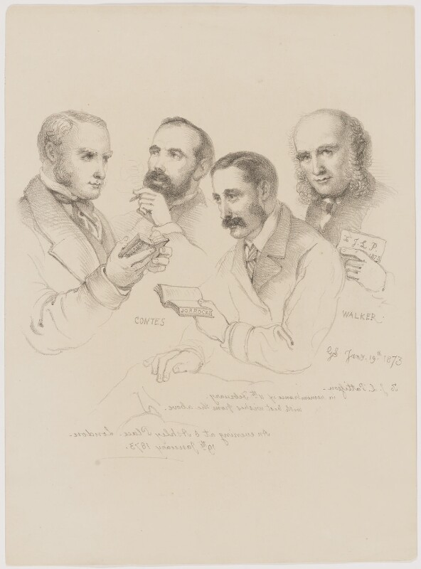 Sir George Scharf and friends, by Sir George Scharf, 1873 - NPG D6714 - © National Portrait Gallery, London