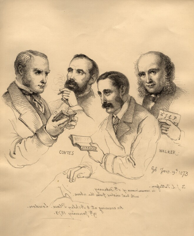 Sir George Scharf and friends, by Sir George Scharf, 1873 - NPG D6715 - © National Portrait Gallery, London