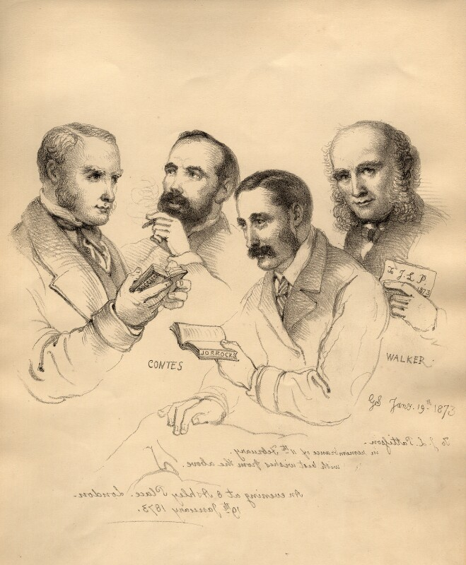 Sir George Scharf and friends, by Sir George Scharf, 1873 - NPG D6716 - © National Portrait Gallery, London