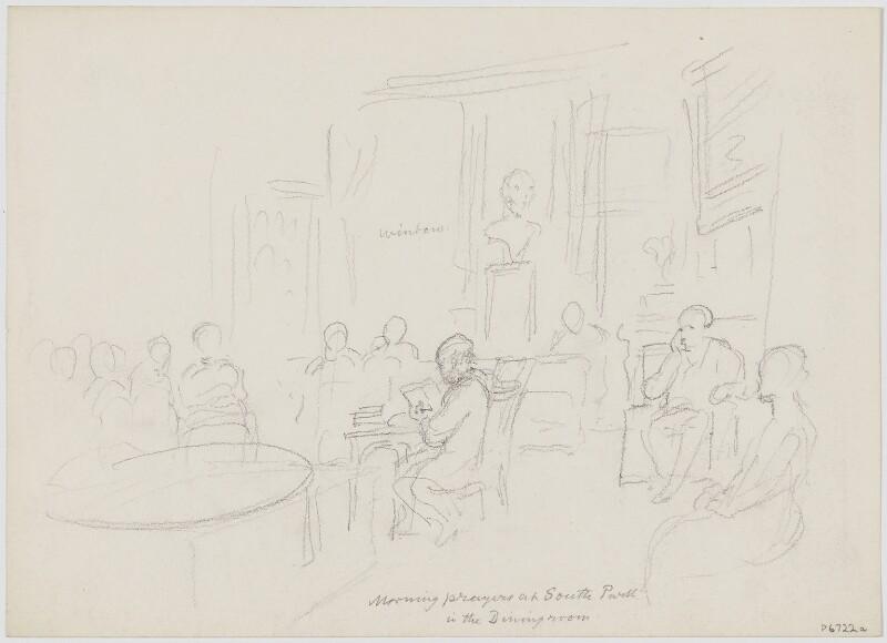Sketch of George Scharf's bedroom, by Sir George Scharf,  - NPG D6722a - © National Portrait Gallery, London
