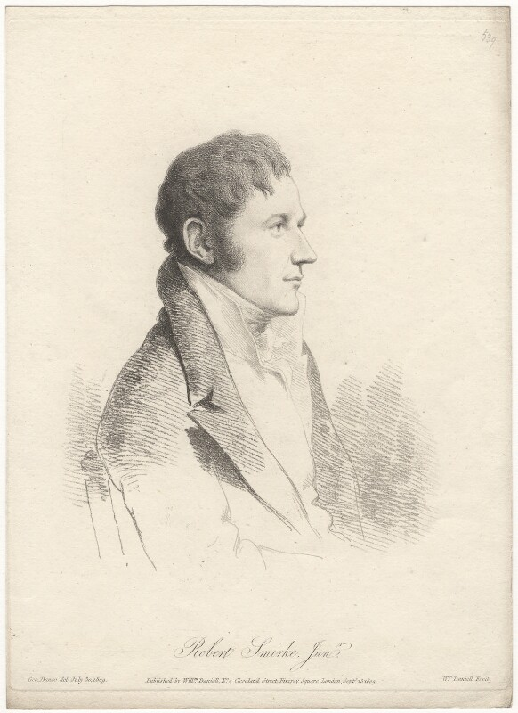 Sir Robert Smirke, by and published by William Daniell, after  George Dance, published 15 September 1809 (30 July 1809) - NPG D6772 - © National Portrait Gallery, London