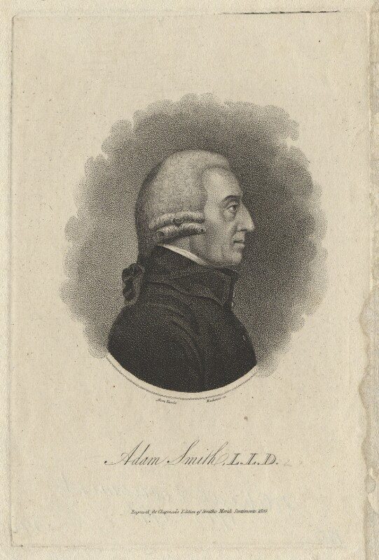 Adam Smith, by Mackenzie, after  James Tassie, published 1809 - NPG D6775 - © National Portrait Gallery, London