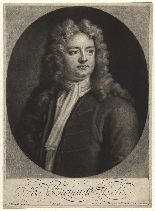 Sir Richard Steele, by and sold by John Smith, after  Jonathan Richardson, 1713 (1712) - NPG D6841 - © National Portrait Gallery, London