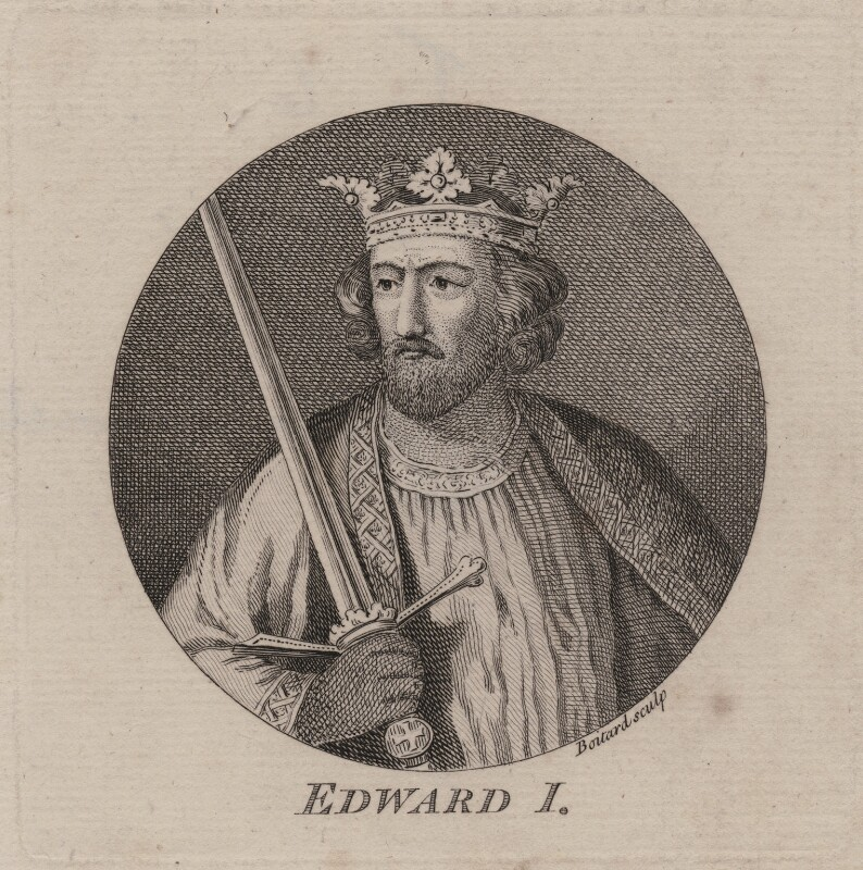 King Edward I, by Louis Philippe Boitard, after  Unknown artist, published 1757 - NPG D6847 - © National Portrait Gallery, London