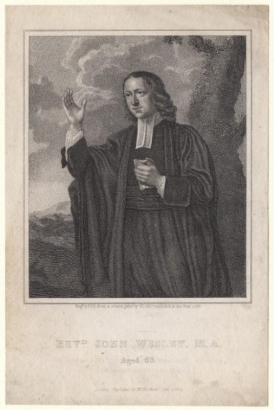 John Wesley, by Fry, after a print by  Bland, published 1824 - NPG D6848 - © National Portrait Gallery, London