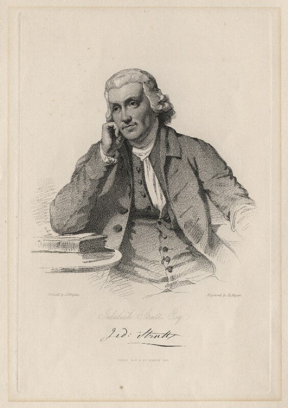 Jedediah Strutt of Derby, by Henry Meyer, after  Joseph Wright, published 1833 - NPG D6880 - © National Portrait Gallery, London