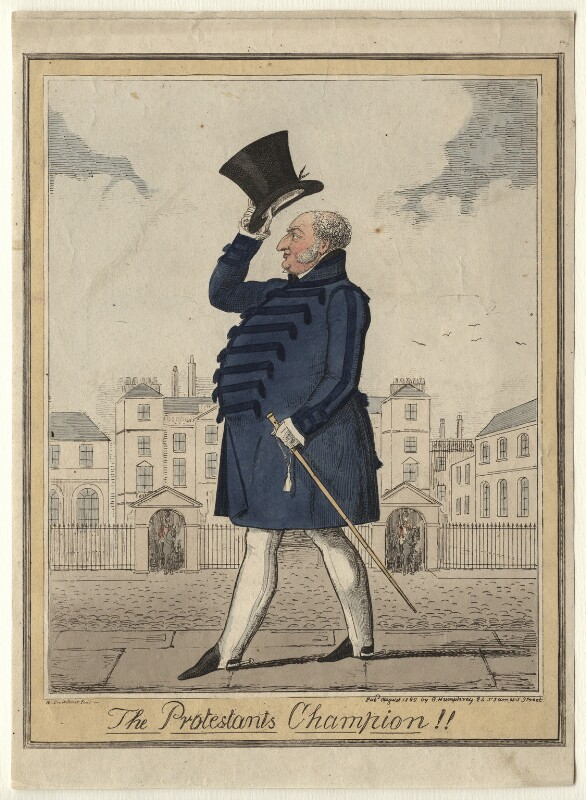 'The Protestants Champion!!' (Prince Augustus Frederick, Duke of Sussex), by (Isaac) Robert Cruikshank, published 1825 - NPG D6904 - © National Portrait Gallery, London