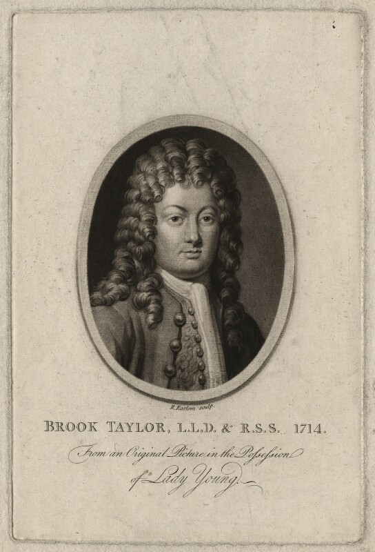 Brook Taylor, by Richard Earlom, after  Unknown artist, published 1793 - NPG D6930 - © National Portrait Gallery, London