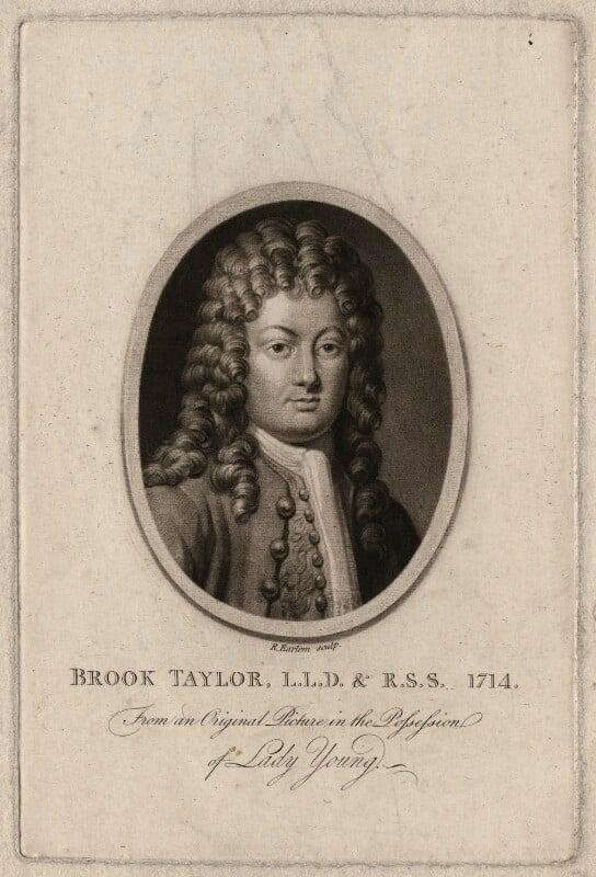 Brook Taylor, by Richard Earlom, after  Unknown artist, published 1793 - NPG D6930 - © National Portrait Gallery, London